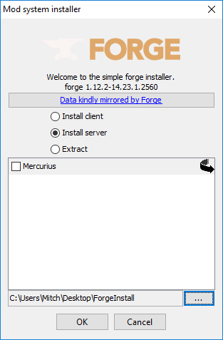 Install Minecraft Forge